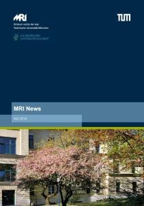 Mai 2016 MRI Newsletter Mai 2016