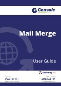 Mail Merge. User Guide. New Zealand Australia