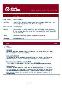 Main Board Meeting Minutes