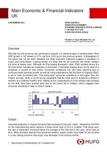 Main Economic & Financial Indicators UK