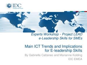 Main ICT Trends and Implications for E-leadership Skills