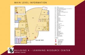 MAIN LEVEL INFORMATION BUILDING A - LEARNING RESOURCE CENTER HARTNELL COLLEGE YOU ARE HERE LEGEND. You Are Here Defibrilator Restrooms Elevator