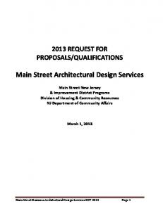 Main Street Architectural Design Services