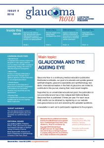 Main topic: GLAUCOMA AND THE AGEING EYE