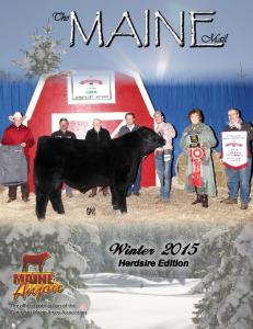 MAINE. Winter Herdsire Edition. The official publication of the Canadian Maine-Anjou Association
