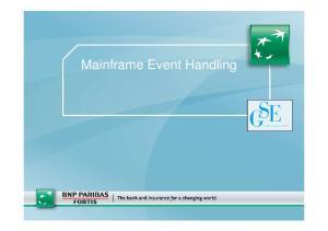 Mainframe Event Handling