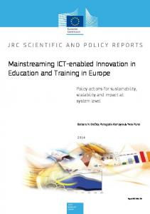 Mainstreaming ICT-enabled Innovation in Education and Training in Europe