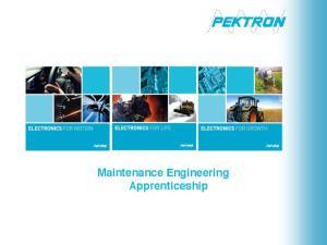 Maintenance Engineering Apprenticeship