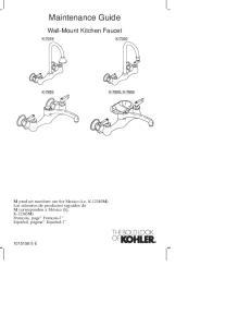 Maintenance Guide. Wall-Mount Kitchen Faucet