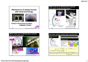 Maintenance of railway tunnels with smart technology