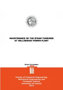 MAINTENANCE OF THE STEAM TURBINES AT HELLISHEIÐI POWER PLANT