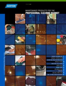 MAINTENANCE PRODUCTS FOR THE PROFESSIONAL CLEANING MARKET