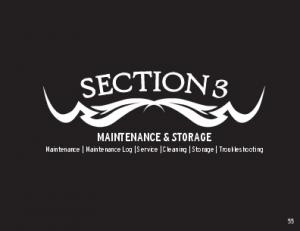 MAINTENANCE & STORAGE Maintenance Maintenance Log Service Cleaning Storage Troubleshooting