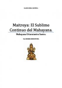 Maitreya: El Sublime Continuo del Mahayana