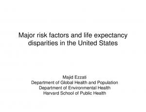 Major risk factors and life expectancy disparities in the United States