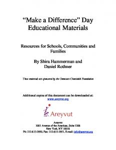 Make a Difference Day Educational Materials