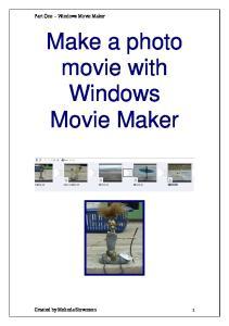 Make a photo movie with Windows Movie Maker