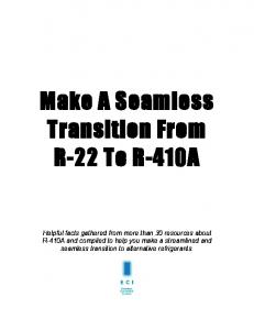 Make A Seamless Transition From R-22 To R-410A