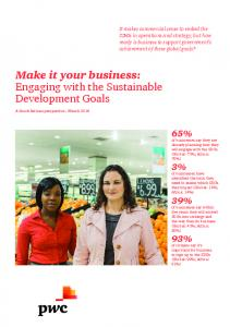 Make it your business: Engaging with the Sustainable Development Goals
