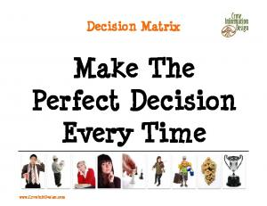 Make The Perfect Decision Every Time