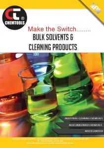 Make the Switch... Bulk solvents & Cleaning products