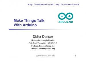 Make Things Talk With Arduino