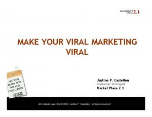 MAKE YOUR VIRAL MARKETING VIRAL