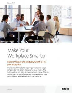 Make Your Workplace Smarter