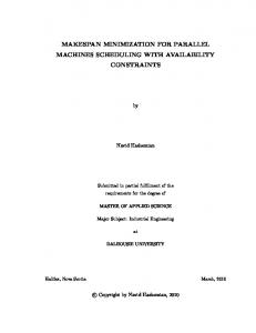 MAKESPAN MINIMIZATION FOR PARALLEL MACHINES SCHEDULING WITH AVAILABILITY CONSTRAINTS