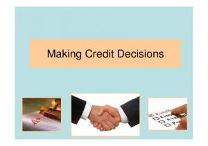 Making Credit Decisions