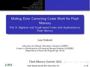 Making Error Correcting Codes Work for Flash Memory