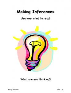 Making Inferences. Use your mind to read! What are you thinking? Making Inferences Page: 1