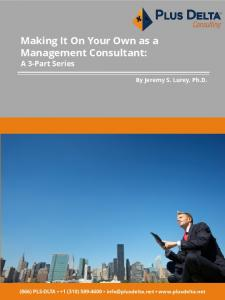 Making It On Your Own as a Management Consultant: