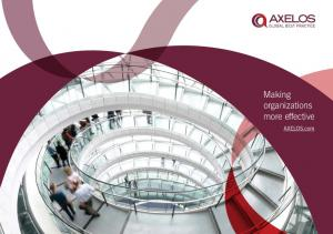Making organizations more effective. AXELOS.com