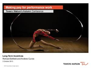 Making pay for performance work