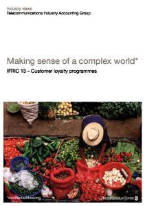 Making sense of a complex world*