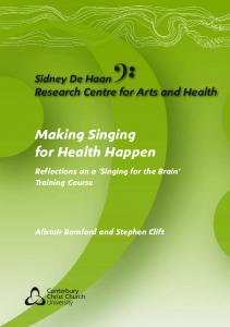 Making Singing for Health Happen