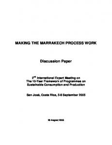 MAKING THE MARRAKECH PROCESS WORK. Discussion Paper