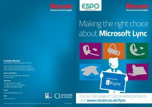 Making the right choice about Microsoft Lync