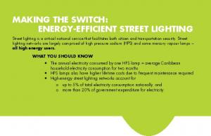 MAKING THE SWITCH: ENERGY-EFFICIENT STREET LIGHTING