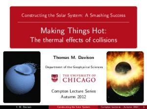 Making Things Hot: The thermal effects of collisions