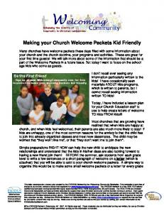 Making your Church Welcome Packets Kid Friendly