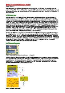 Making your own RCX-sensors (Part II ) Claude Baumann