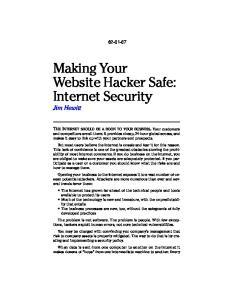 Making Your Website Hacker Safe: Internet Security