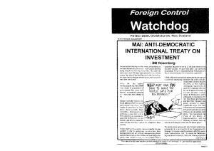 MAl: ANTI-DEMOCRATIC INTERNATIONAL TREATY ON INVESTMENT