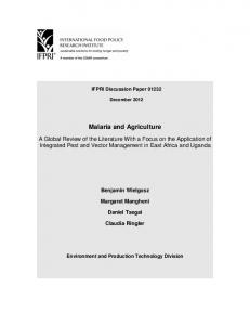 Malaria and Agriculture