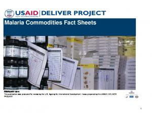 Malaria Commodities Fact Sheets