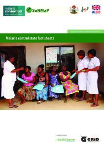 Malaria control state fact sheets