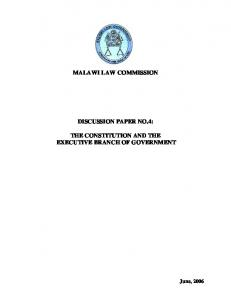 MALAWI LAW COMMISSION DISCUSSION PAPER NO.4:
