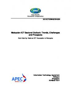 Malaysian ICT Sectoral Outlook: Trends, Challenges and Prospects
